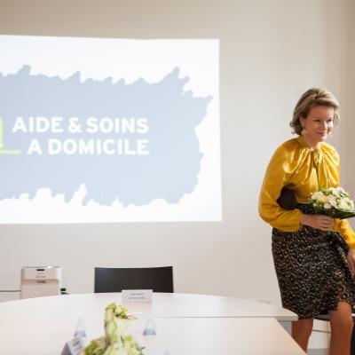 Moment historique : La Reine Mathilde en visite à l'ASD de Namur !